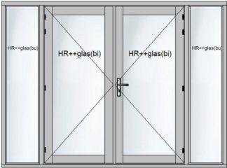 Tuindeurensets met stapeldorpel deuren en zijglas
